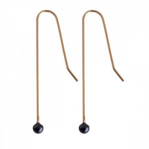 SOPHIE   Dark Pearl - Earring - Gold