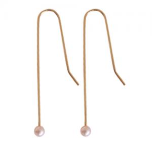 """Sophie"" Rose Pearl - Earring - Gold"