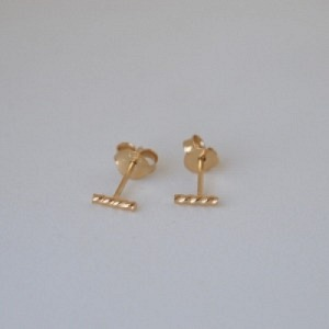 """""""Sophie"""" Twist Line - Stud Earring - Gold"""