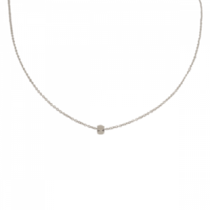 """Cleometra"" Hexagon Square - Collier - Silver"