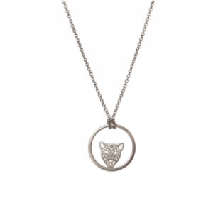 """Panthera"" in Circle - Necklace - Silver"