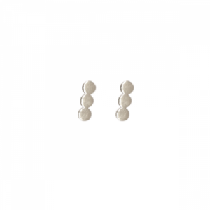 """Paillette"" Three - Stud Earring - Silver"