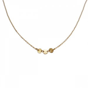 """Paillette"" Three - Collier - Gold"