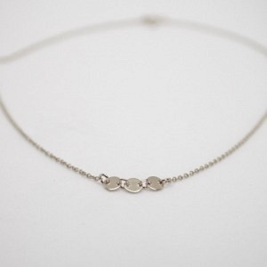 """Paillette"" Three - Collier - Silver"