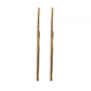 """Stripes & Joist"" Bar L - Stud Earring - Gold"