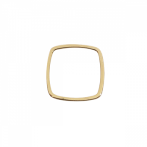 """Stripes & Joist"" Line Cube - Ring - Gold"