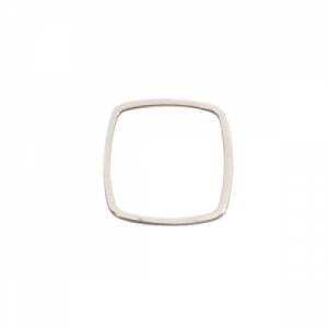 """""""Stripes & Joist"""" Line Cube - Ring - Silver"""