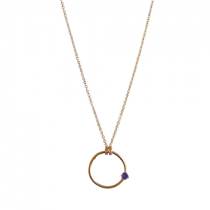 """Solitaire"" Amethyst - Necklace - Gold"
