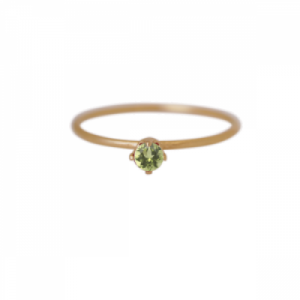 """Solitaire"" Peridot (S) - Ring - Gold"