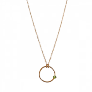 """Solitaire"" Peridot - Necklace - Gold"