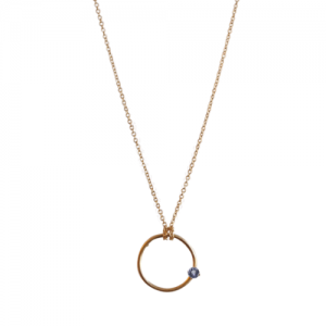 """Solitaire"" Tanzanite - Necklace - Gold"