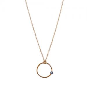 SOLITAIRE | Tanzanite - Necklace - Gold