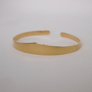 """Solitaire"" Classic - Bangle - Gold"