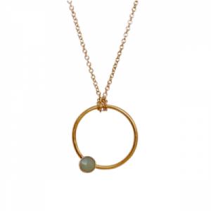 """Petit Point"" Aventurin - Necklace - Gold"