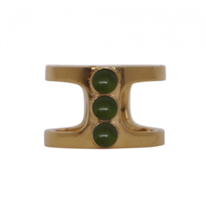 """Petit Point"" Green Jade Orion - Ring - Gold"
