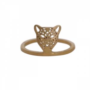 """""""Panthera"""" Head - Ring - Gold"""