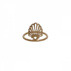 """Hummingbird Shell"" - Ring - Gold"