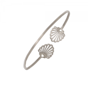 """Hummingbird Shell"" - Bangle - Silver"