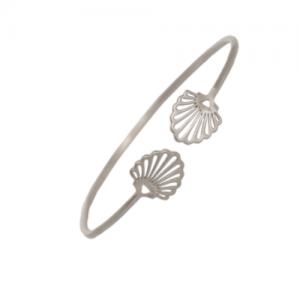 """Hummingbird Shell"" Classic - Bangle - Silver"