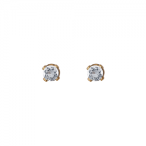 """Solitaire"" Diamond White (XS) - Stud Earring - 18 Karat Gold"