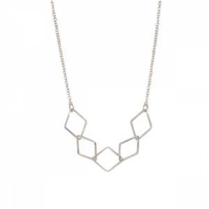 """Opalia"" Rhombus - Collier - Silver"