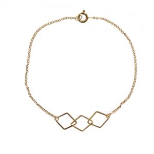 """""""Opalia"""" Rhombus - Bracelet - Gold"""