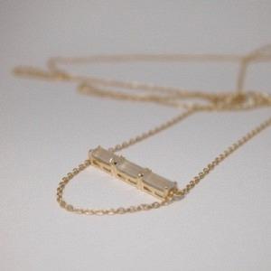 BAGUETTE | Paper Moonstone Three - Necklace - 18 Karat Gold