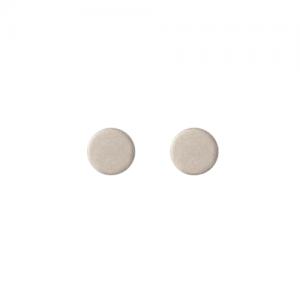 """Spot Classic"" Mat - Stud Earring - Silver"