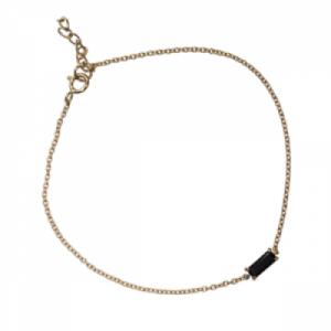 """Baguette"" Black Onyx One - Bracelet - 18 Karat Gold"