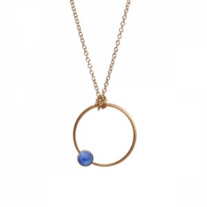 """Petit Point"" Lapislazuli - Necklace - Gold"