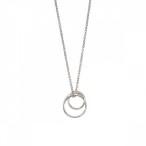 """Curvaceous"" FlatRound Double - Necklace - Silver"