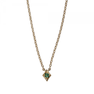 """Opalia"" Vintage Rhombus Emerald - Necklace - 18 Karat Gold"