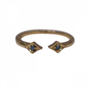 OPALIA | Vintage Rhombus Blue Diamond - Ring - 18 Karat Gold