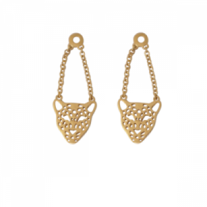 """Panthera"" Head - Earring Accessoires - Gold"