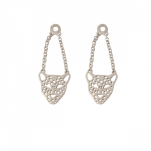 """Panthera"" Head - Earring Accessoires - Silver"