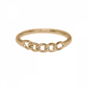 """Curb"" Classic - Ring - Gold"