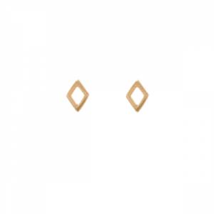 """""""Opalia"""" Rhombus Tiny - Stud Earring - Gold"""