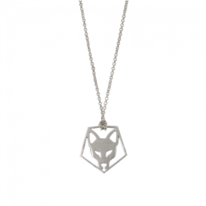 """Cityfox"" Head Pentagon - Necklace - Silver"