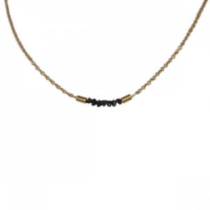 """Rocks"" Black Rough Diamond - Collier - Gold"