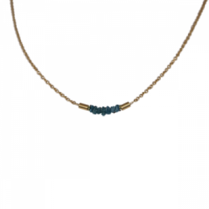 """Rocks"" Blue Rough Diamond - Collier - Gold"