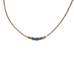 """Rocks"" Grey Rough Diamond - Collier - Gold"