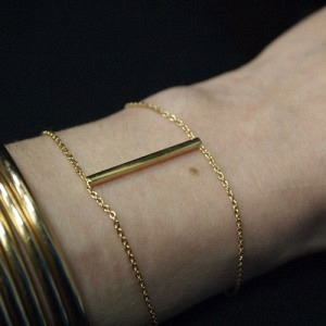 """Stripes & Joist"" Bar - Bracelet - Gold"