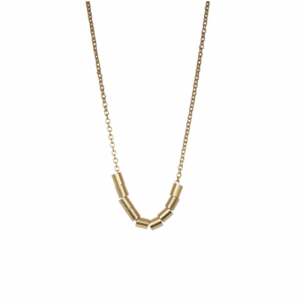 """Tube-Deco"" Ten - Necklace - Gold"
