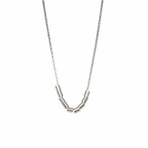 TUBE-DECO | Ten - Necklace - Silver