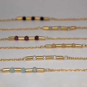 TUBE-DECO   Gemstone - Collier - Gold