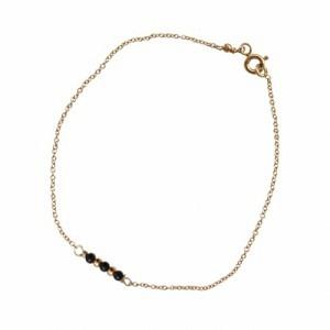 """""""Un-Deux-Trois"""" Onyx - Bracelet - Gold"""