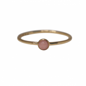 """Petit Point"" Pink Opal Petit - Ring - 18 Karat Gold"