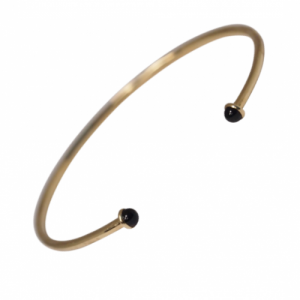 """Petit Point"" Onyx Petit - Bangle - 18 Karat Gold"