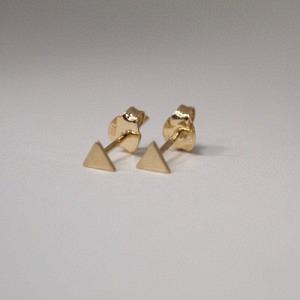 """Trinity"" Triangle - Stud Earring - 18 Karat Gold"