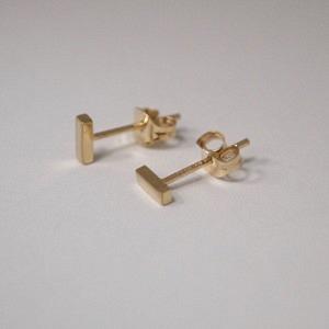STRIPES&JOIST | Bar S - Stud Earring - 18 Karat Gold